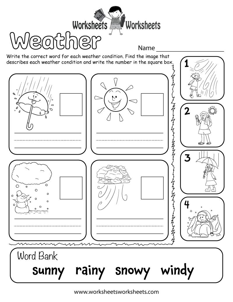 medium resolution of Weather Worksheet for Kids   Worksheets Worksheets