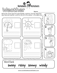 Weather Worksheet for Kids