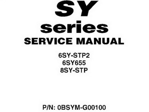 Yanmar SY Series 6SY 8SY Marine Engine Service Manual