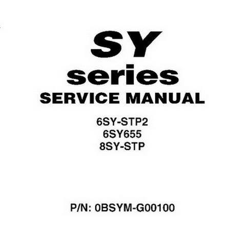 Yanmar SY Series 6SY 8SY Marine Engine Service Manual 2