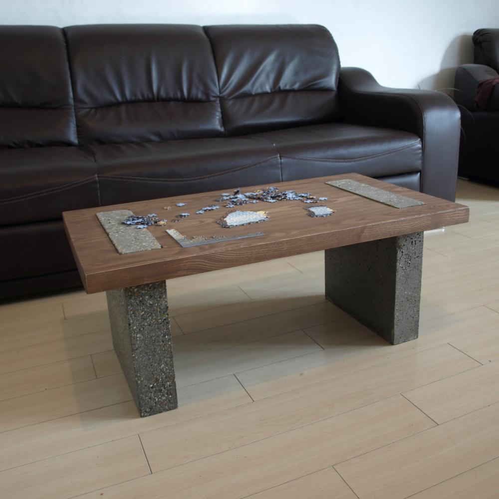 The Ash Wood Table Top Mixed With Concrete Legs