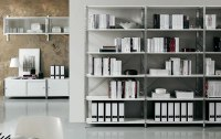 White Office Shelving. Contemporary Shelving. Office Furniture
