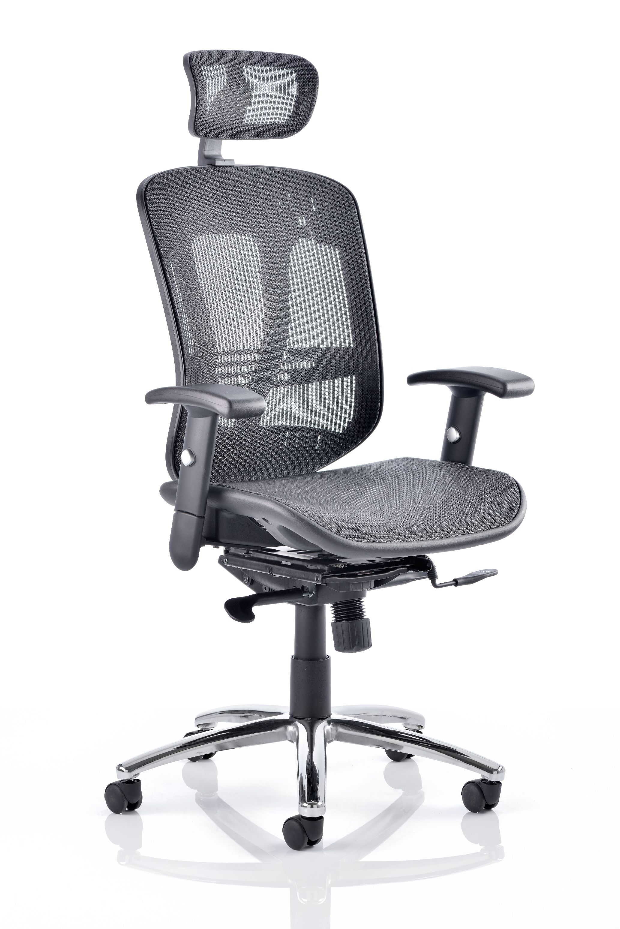 add headrest to office chair walmart fold up chairs contemporary mesh