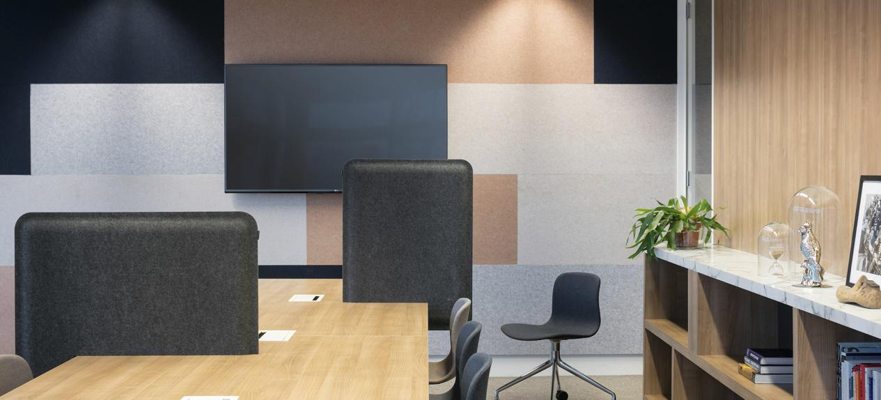 Pet Felt Acoustic Panels Workspace Studio