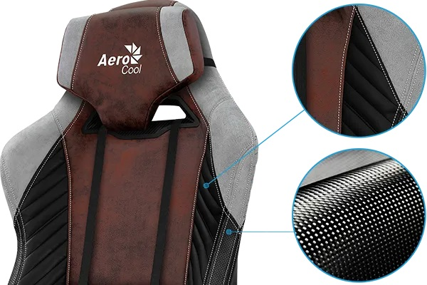 AeroCool BARON gaming chair red face tissu
