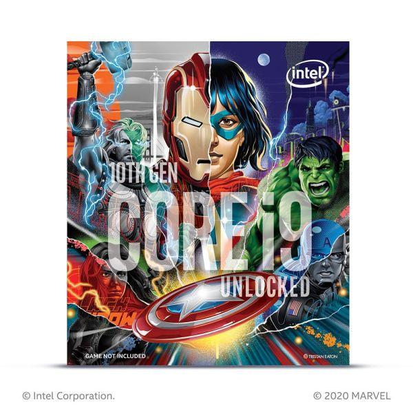 Processeur Intel Core i9-10850K , i9-10900K BOX Avengers Limited Edition FACE