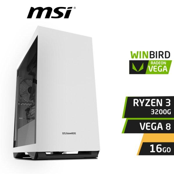 WINBIRD RYZEN 3 3200G 16GB RX VEGA 8 SSD 120Go 1To