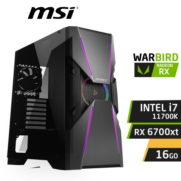 WARBIRD G11 INTEL i7-11700K 16Go AMD RX 6700XT 12GO