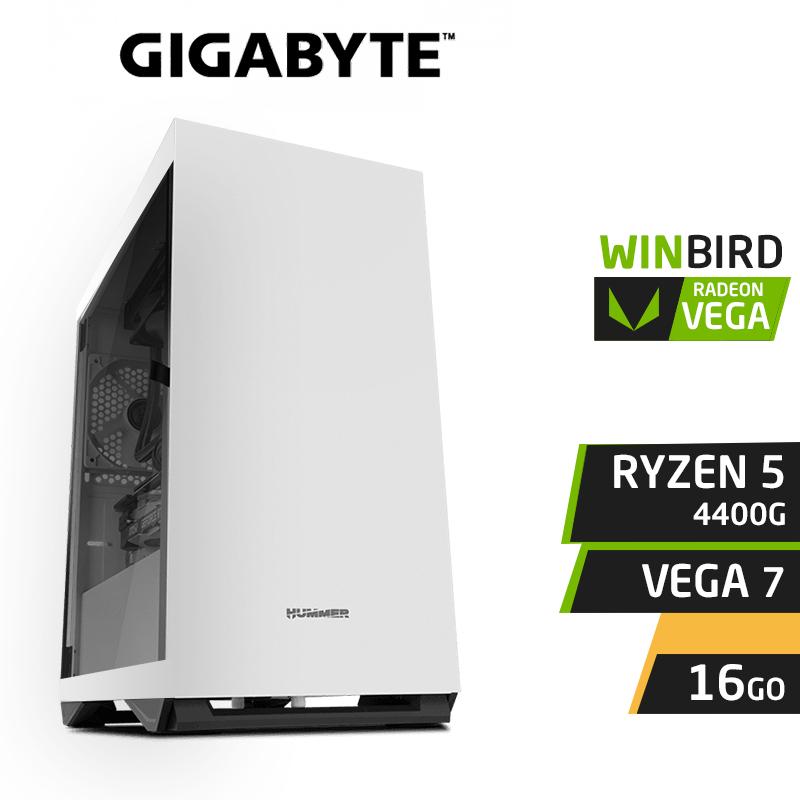 WINBIRD RYZEN 5 4400G 16GB RX VEGA 7 SSD 120Go 1To