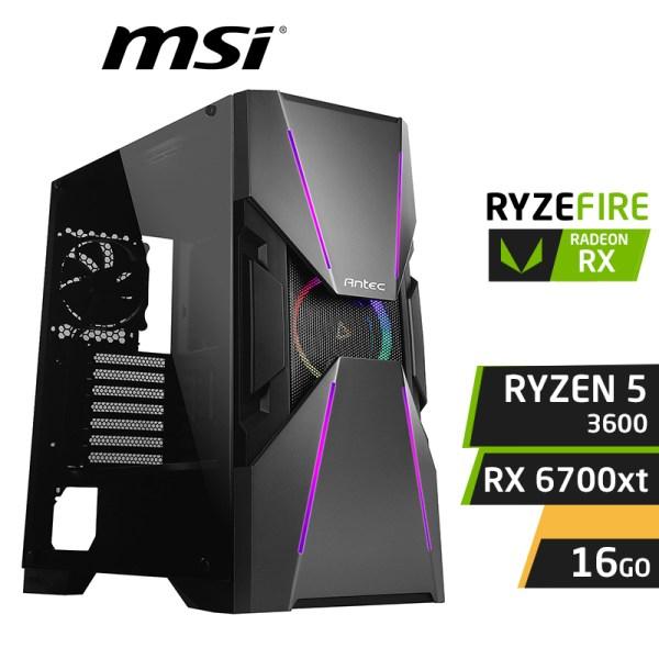 RYZEBIRD RYZEN 5 3600 16GB RX 6700 XT 12Go GDDR6