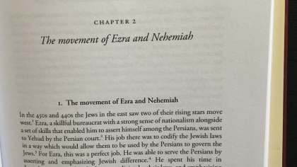 """Picture of opening page of Chapter 1 from """"Esther in Ancient Jewish Thought"""" by Aaron Koller"""