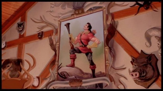 Portrait of Gaston in tavern from Beauty and the Beast