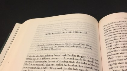 Priestesses In the Church essay title by CS Lewis