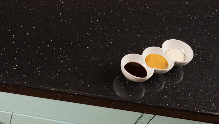 Black Sparkle Laminate Worktops Andromeda Gallery