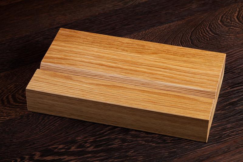 Solid Oak iPad Stand Wooden Tablet Holder  Worktop Express
