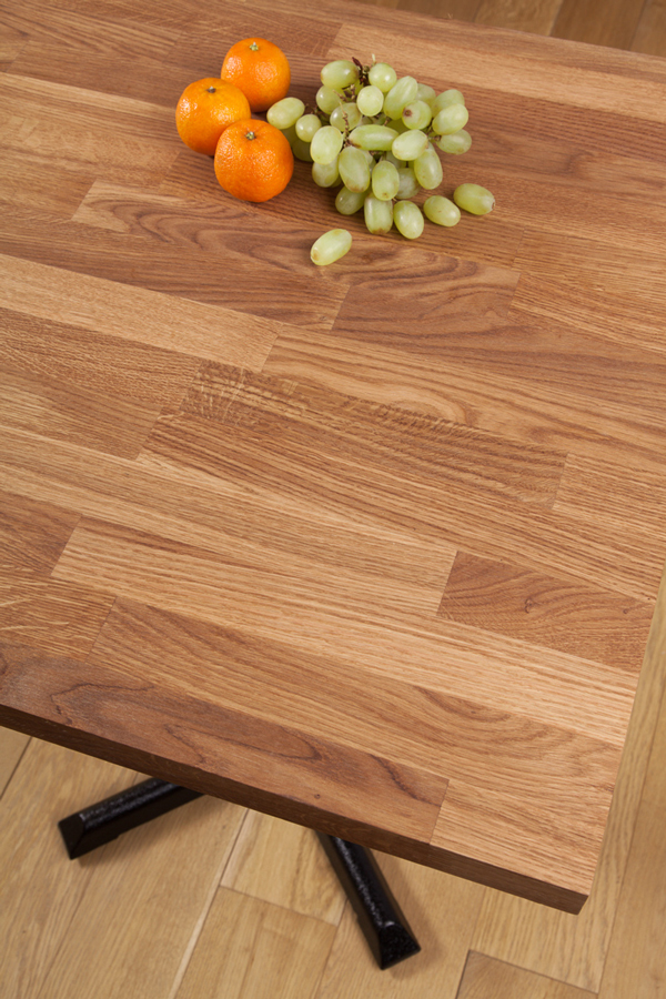 Solid Oak Restaurant Tabletop Square 40mm