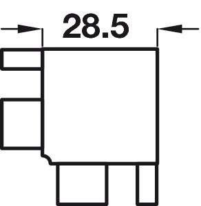 Connectors, for Internal Corners, for Profiles, Gola System C Plus