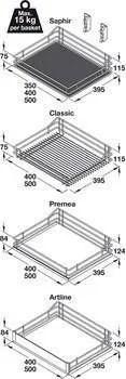 Mesh Chrome Wire Storage Baskets, Vauth-Sagel