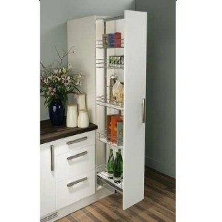 Pull Out Larder Storage Unit Linear Wire Baskets