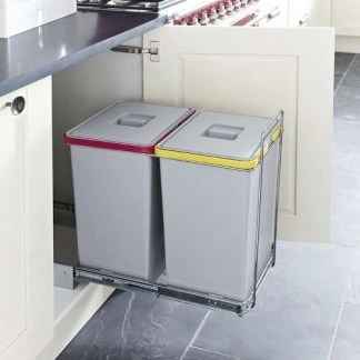 Pull Out Waste Bins 2x 24 Litres Ecofil