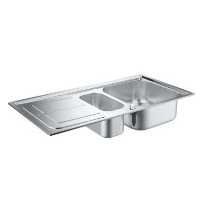Stainless Steel Sink, 1.5 Bowl Grohe K300 1