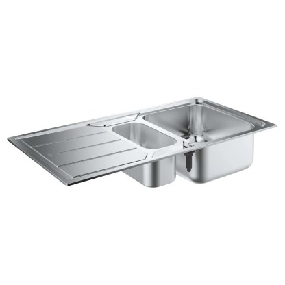 Stainless Steel Sink, 1.5 Bowl Grohe K500