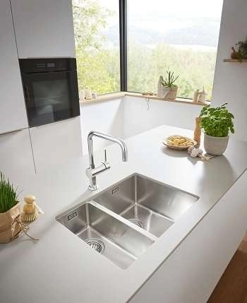 Stainless Steel Sink, Undermount 1.5 Bowl Grohe K700 L 1