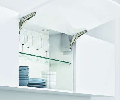 Single Door Flap Fitting, Complete Set White