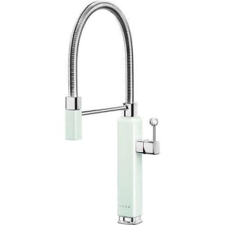 Green Mixer Taps Single Lever With Pull Out Spray