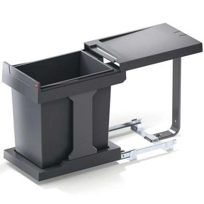 Pull Out Waste Bin Hailo Solo 20 litres Grey