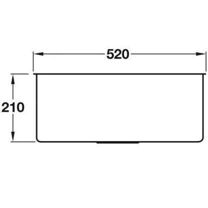 Sink, Single Bowl, Smeg Quadra VSTQ50-2