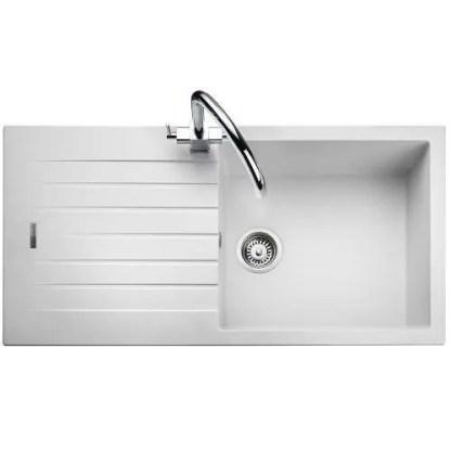 White Sink Single Bowl Amethyst Igneous