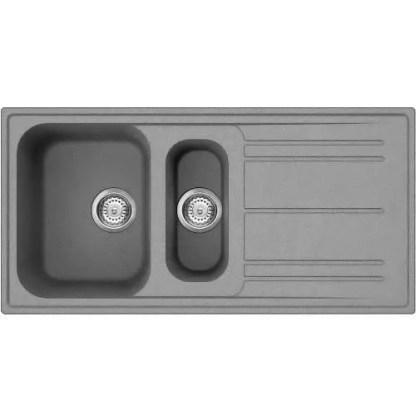 Sink 1.5 Bowl Smeg Rigae Grey 1