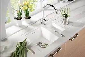 Sink Modules Mira Worktop 1.5 Bowl White Acrylic