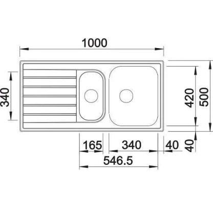 Stainless Steel Sinks Livit 6 S-size