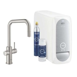 GROHE Blue Filter Tap Brushed Steel