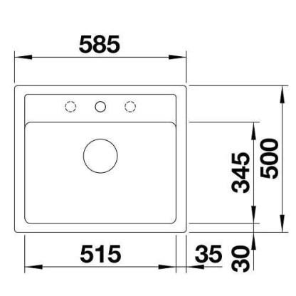 Granite Sink Blanco Legra 6-size