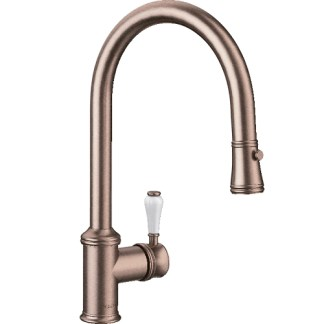 Pull Out Spray Tap Blanco Vicus Brushed Copper