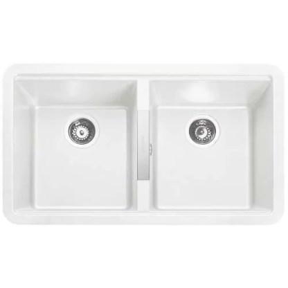 undermount Sink Double Bowl Paragon Igneous White