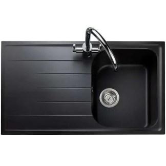 Amethyst Compact Granite Inset Sink Black