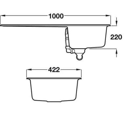 Sink, Single Bowl, Rangemaster Amethyst Igneous-size