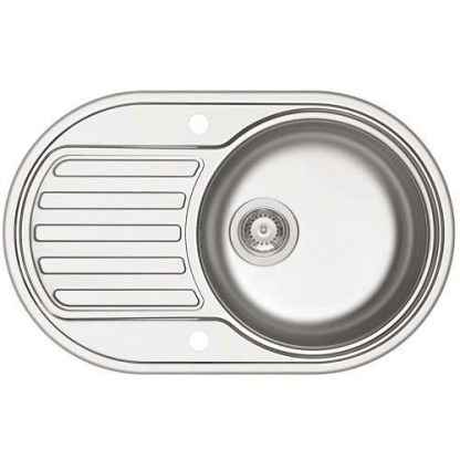 Sink, Single Bowl with Drainer, SR Mini