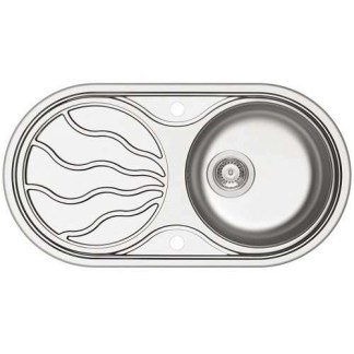 Sink, Single Bowl with Drainer, SR Twig