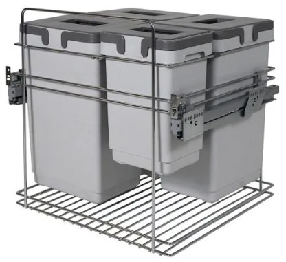 Pull Out Waste Bin, Over Extension, Kombi 600mm
