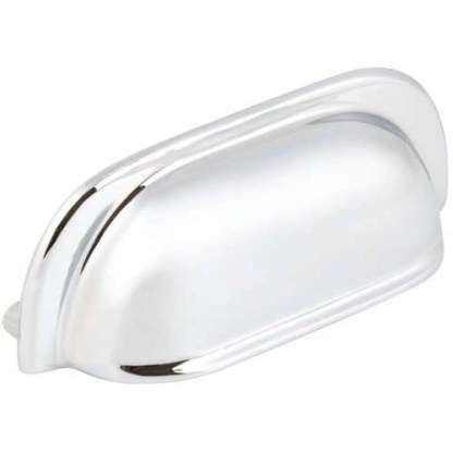 Cup Pull Handle Polished chrome