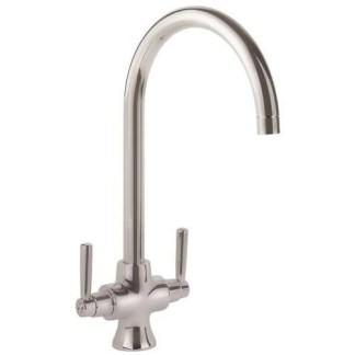 Tap, Dual Lever, Rangemaster Cruciform Brushed finish