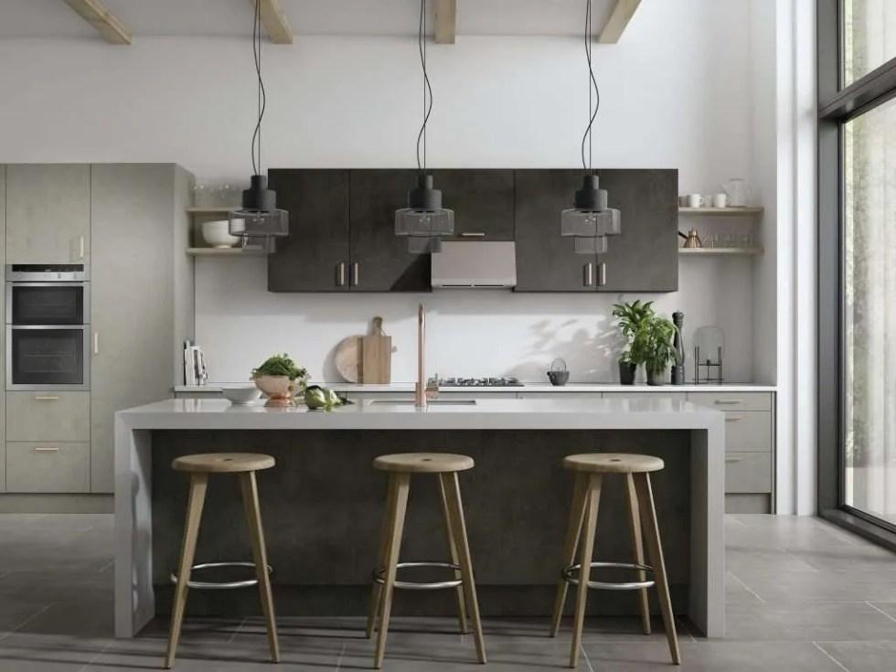 Cutler Dark Concrete Kitchen