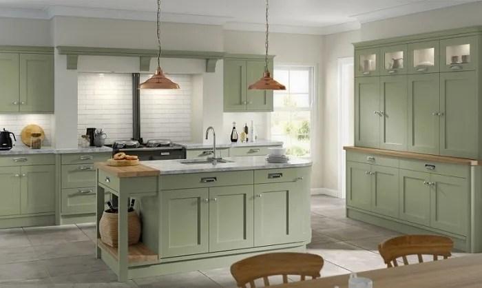 Hartford Kitchen with Sage cabinet doors