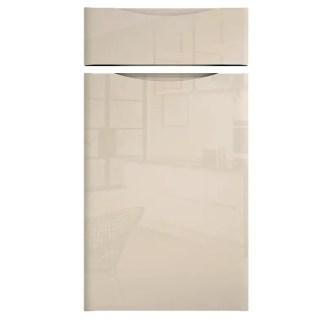 Handleless Cabinet Doors Loretto Gloss Cream