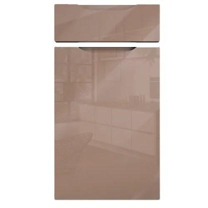 Neptune Handleless Cabinet Doors Gloss Cappuccino